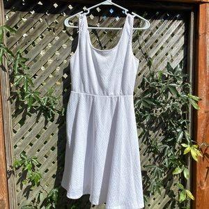 White Skater Tank Top Mini Dress